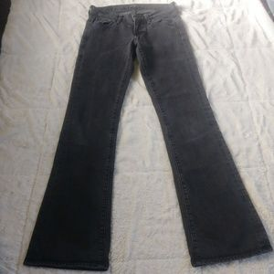 7FAM Black Denim Bootcut Jean